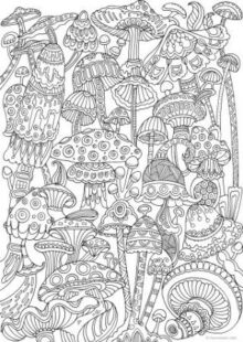 mushrooms coloring pages 1