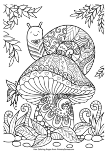 mushrooms coloring pages 2
