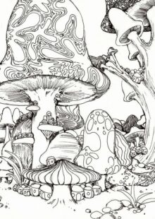 mushrooms coloring pages 3