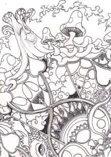mushrooms coloring pages 4
