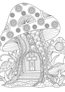 mushrooms coloring pages 5