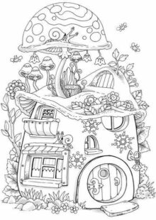 mushrooms coloring pages 6