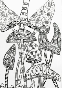 mushrooms coloring pages 7