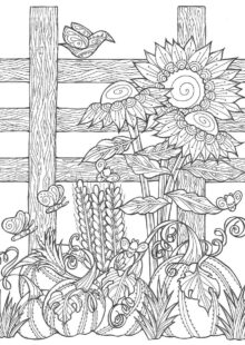 natural coloring pages 5