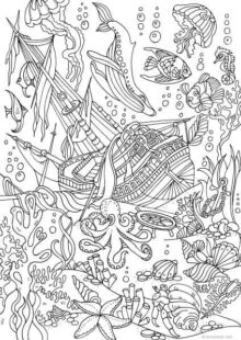ocean coloring pages 8