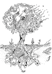 trees coloring pages 2