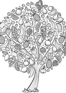 trees coloring pages 4