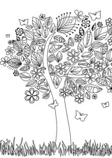 trees coloring pages 6