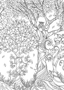 trees coloring pages 9