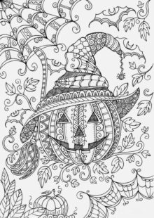 halloween coloring pages – 1