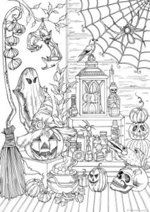 halloween coloring pages – 10