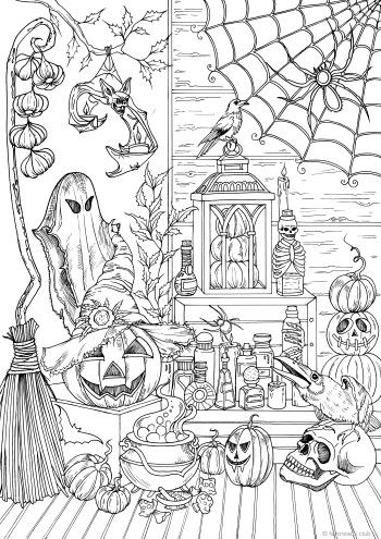 adult halloween coloring books  adultcoloringbookz