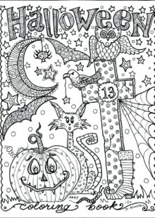 halloween coloring pages – 2