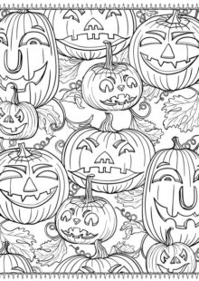 halloween coloring pages – 3