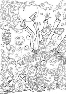 halloween coloring pages – 4