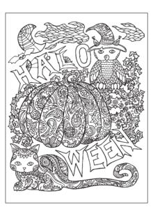 halloween coloring pages – 5