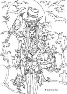 halloween coloring pages – 9