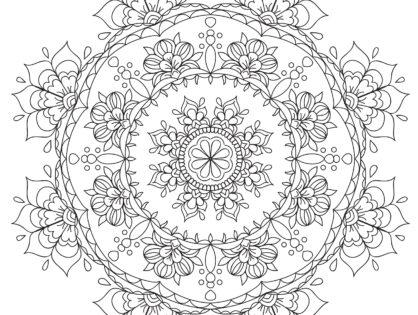 How to Draw Flower Mandala