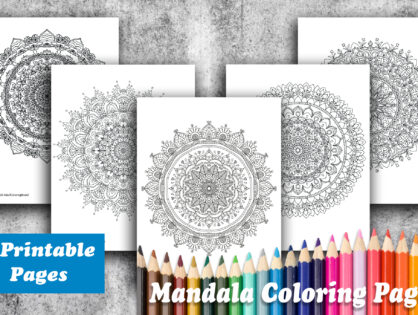 Giveaway - 5 Mandala Coloring Pages