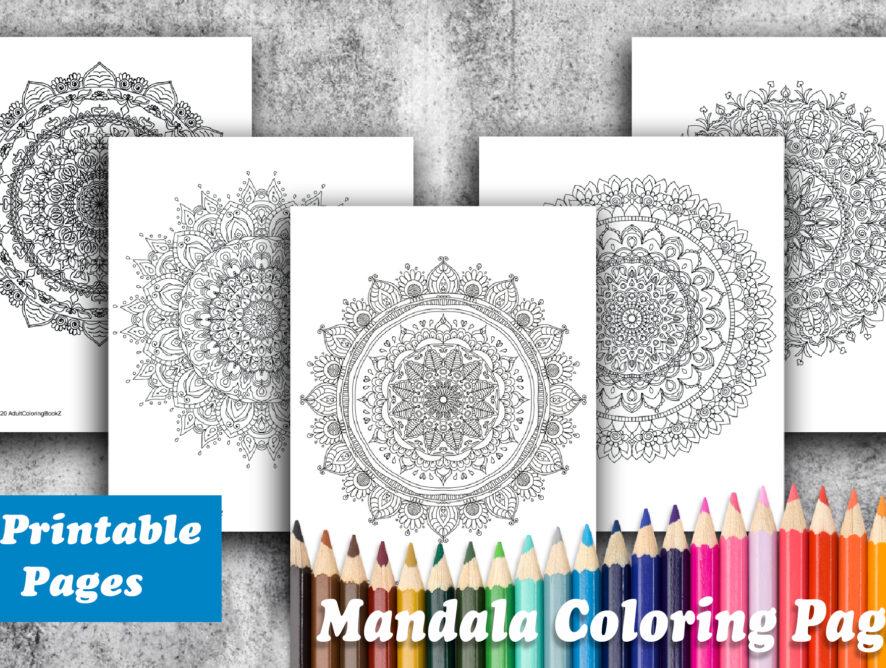 Giveaway - 5 Mandala Coloring Pages